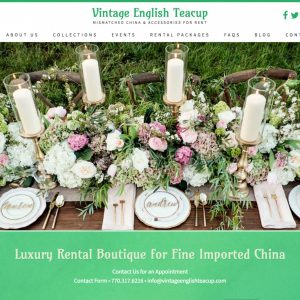 Project Spotlight: Vintage English Teacup Website