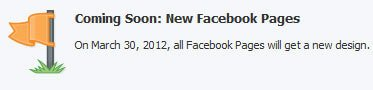 Coming Soon - Facebook Page Changes