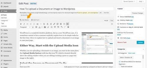 Add Media Button in WordPress
