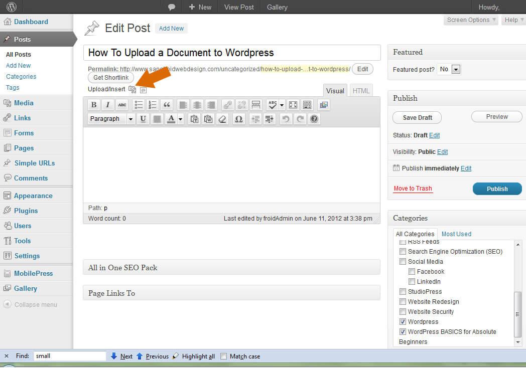 Add Media to WordPress Icon