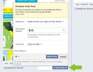 Boost a Facebook Post
