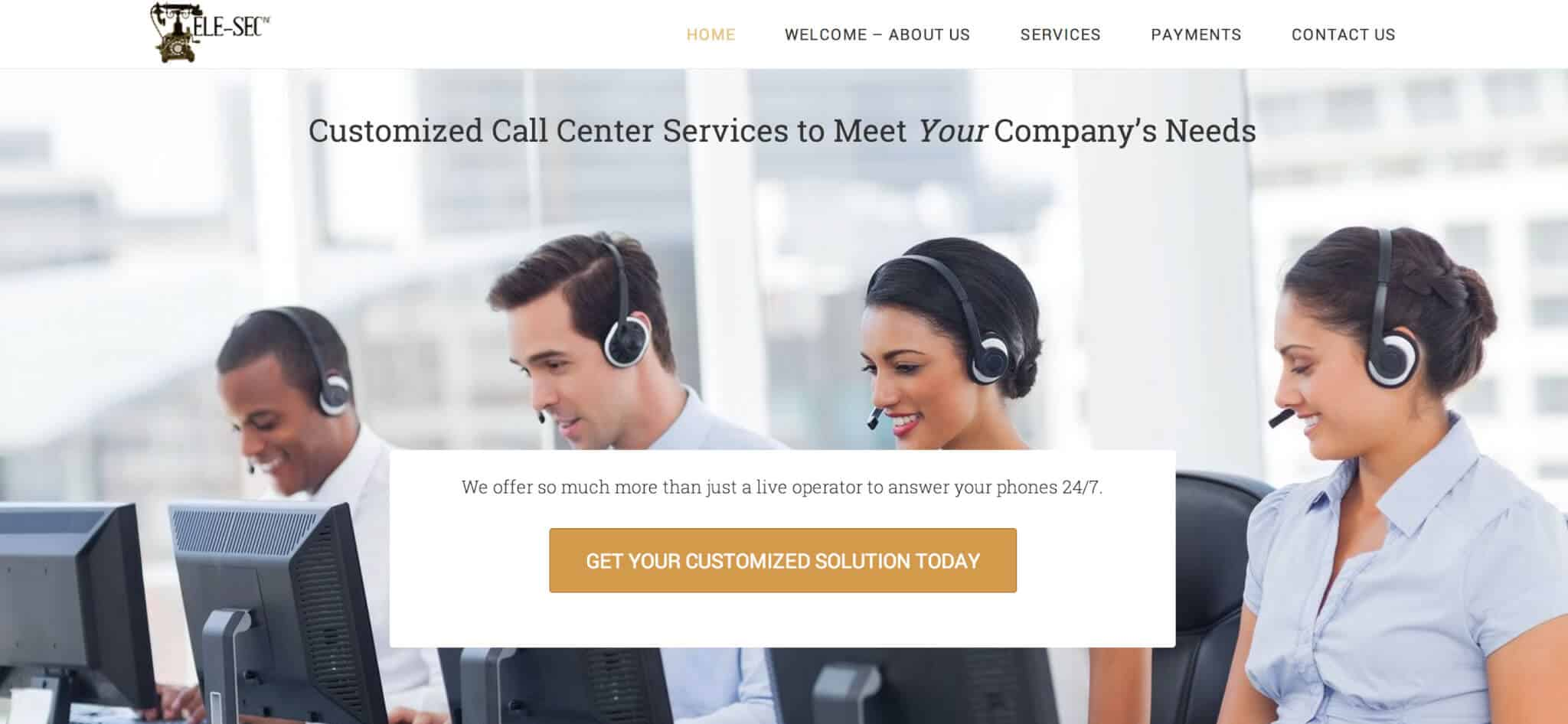 Telesec Answering Service Website