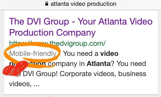 Atlanta video production company The DVI Group 's Mobile-Friendly Tag