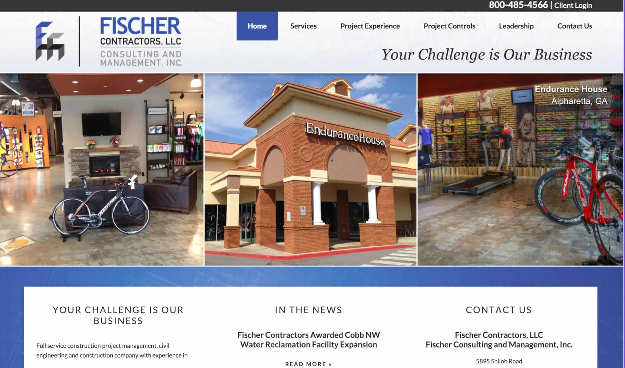 FischerCM.com Mobile Responsive Web Design