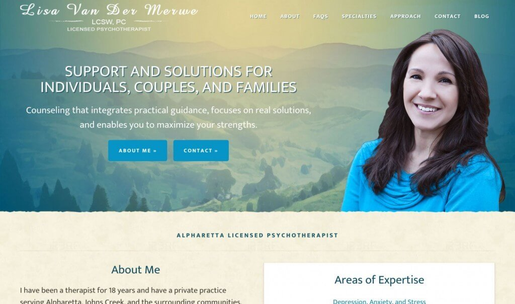 LVCounseling.com Mobile Responsive Website Redesign - Alpharetta Therapist