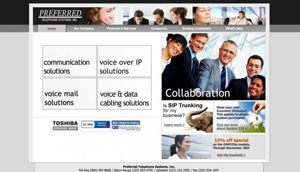 Preferred Telephone Web Design 2007