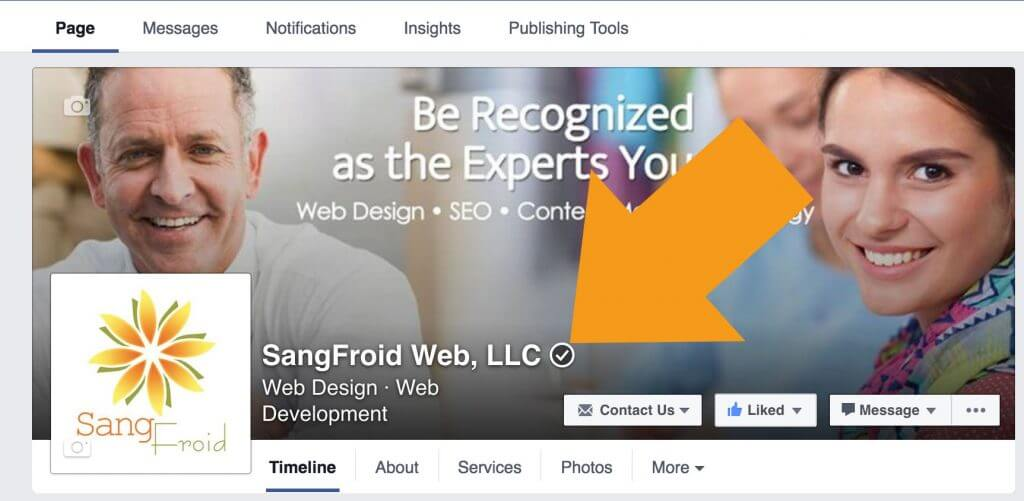 Verified Business Page Badge on Facebook