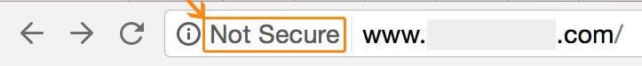 Not Secure Chrome Labe - Google HTTPS SSL Everywhere