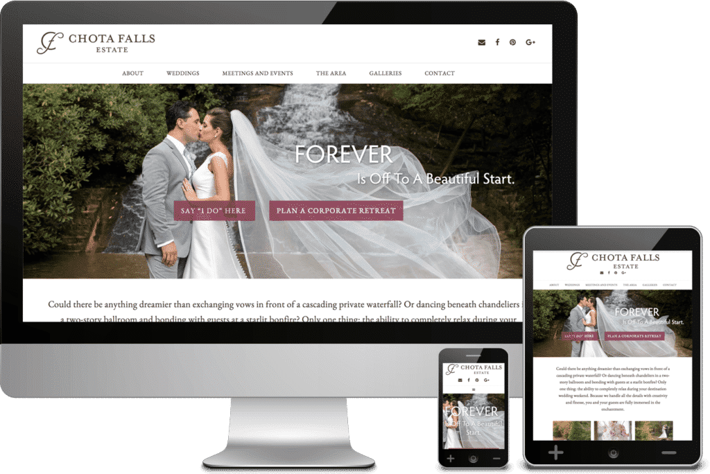 Chota Falls Website Design and Build