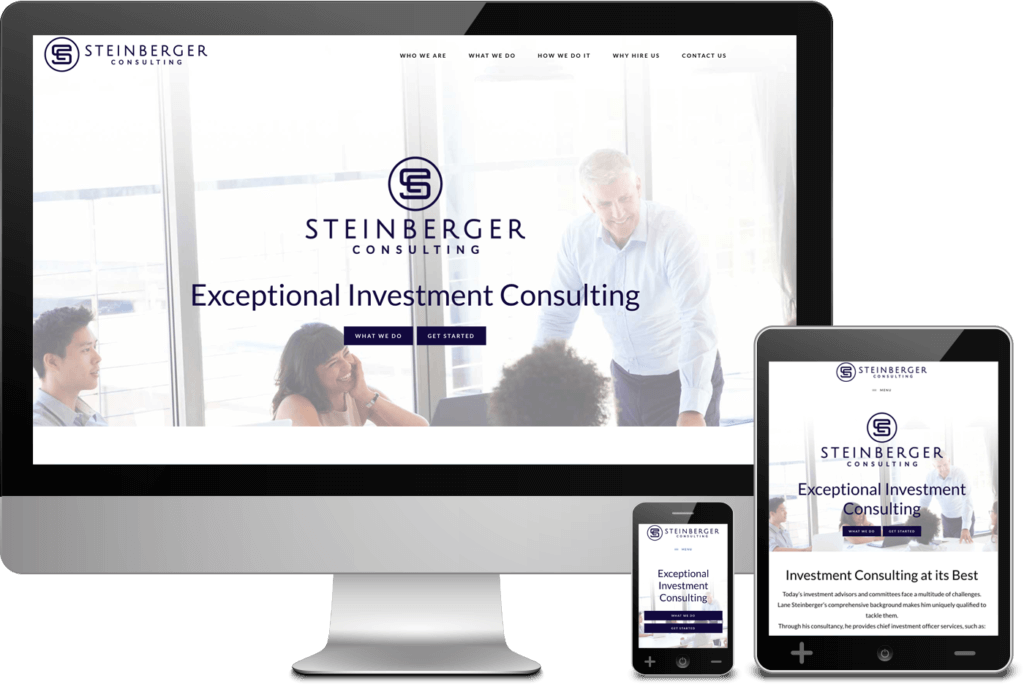 Mobile Responsive Web Design: Steinberger Consulting