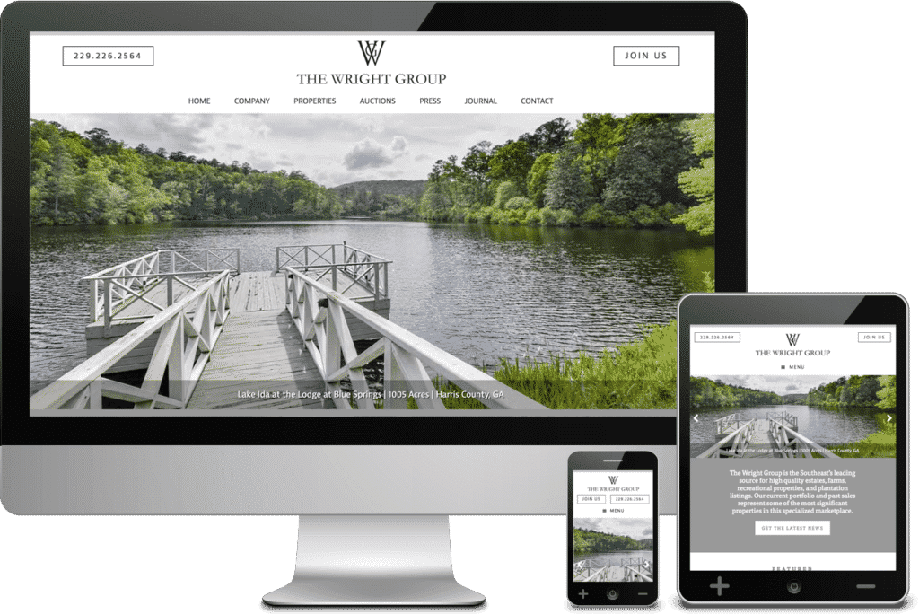 South Georgia Web Design Project for The Wright Group