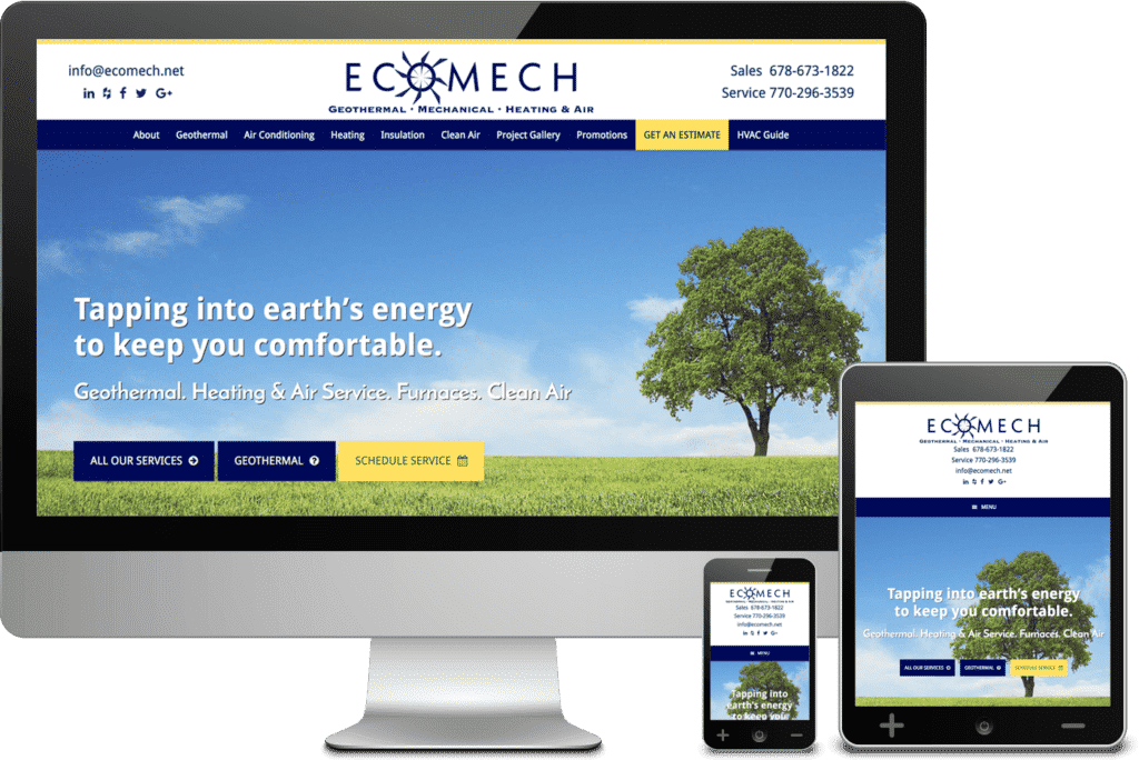 Atlanta Web Design Project for EcoMech