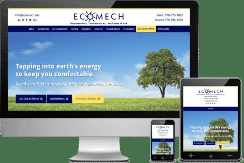 Atlanta Web Design Project for EcoMech