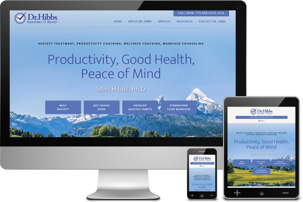 Atlanta Website Project for Dr. Stanley Hibbs