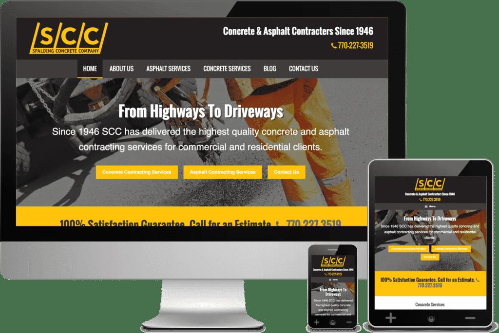 Griffin, GA - South Atlanta Web Design for Spalding Concrete