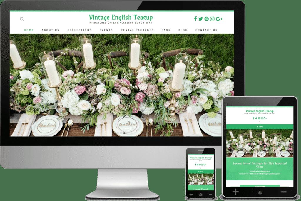 Marietta Web Design for Vintage English Teacup