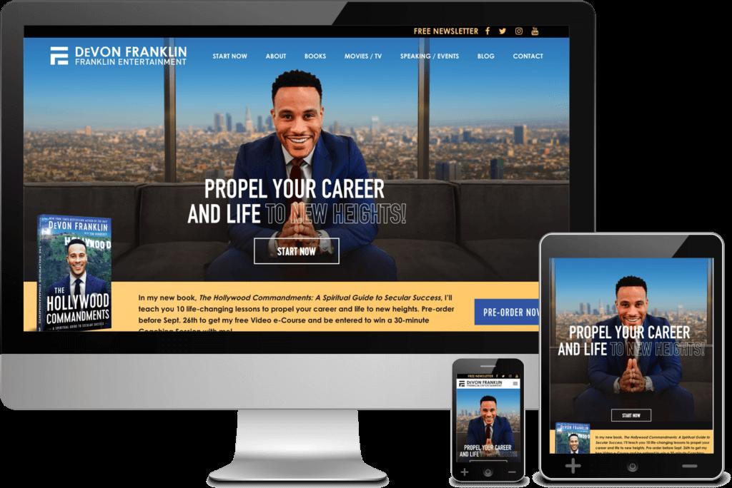 Web Design Project for DeVon Franklin