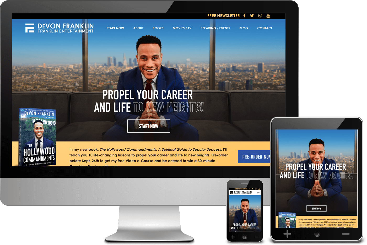Web Design Project for DeVon Franklin