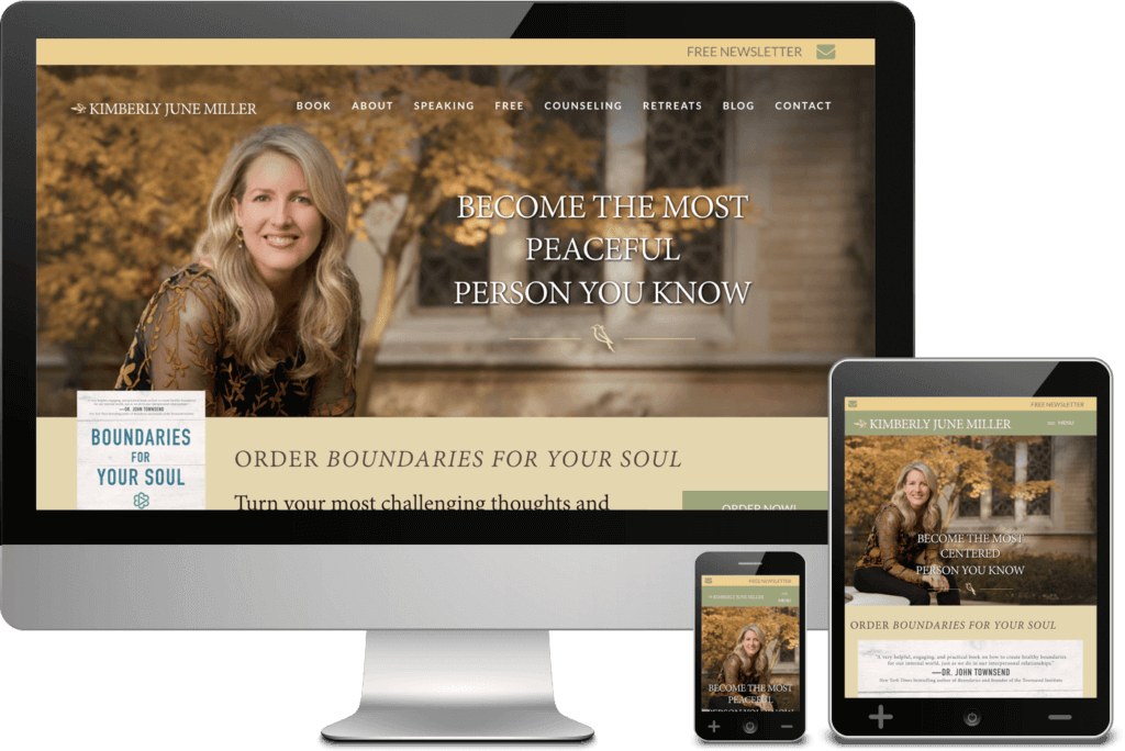 Author Website Design - Kimberly June Miller