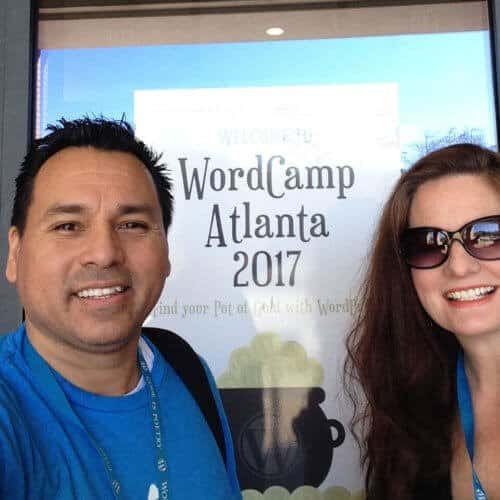 Liz and Eddy at WordCamp