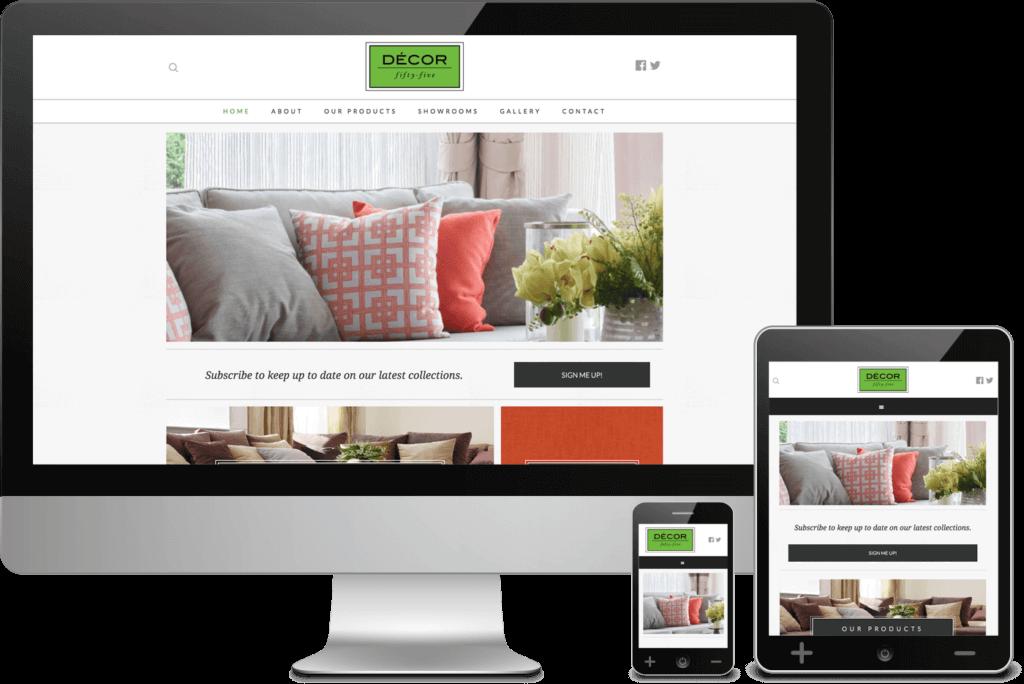 Atlanta Web Design for Decor 55
