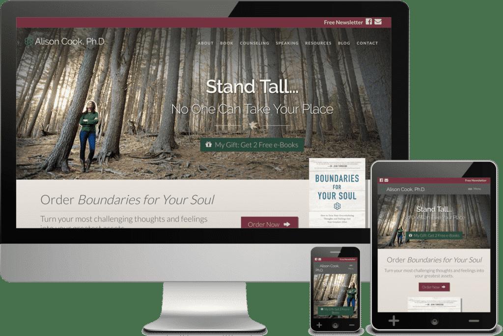Author Website Design - Alison Cook, Ph.D.