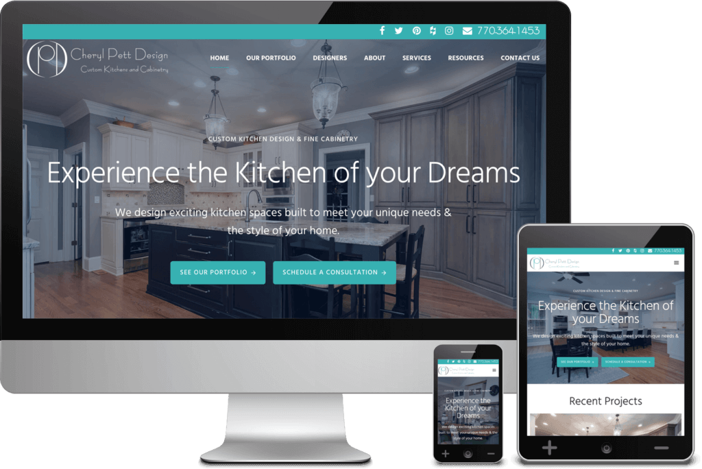 Alpharetta Web Design for Cheryl Pett