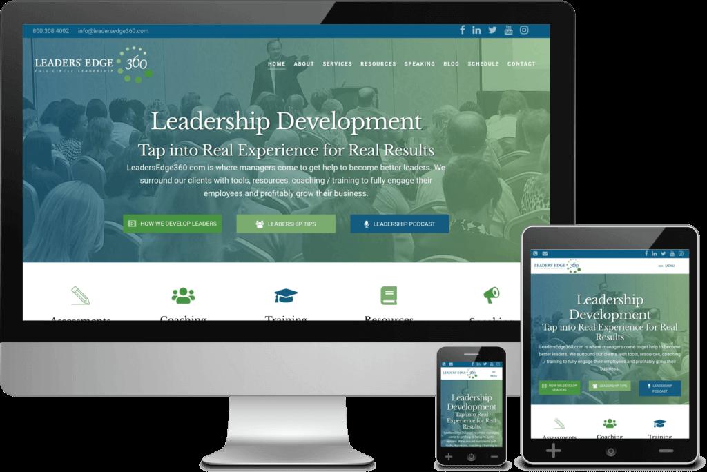 Web Design for LeadersEdge360.com