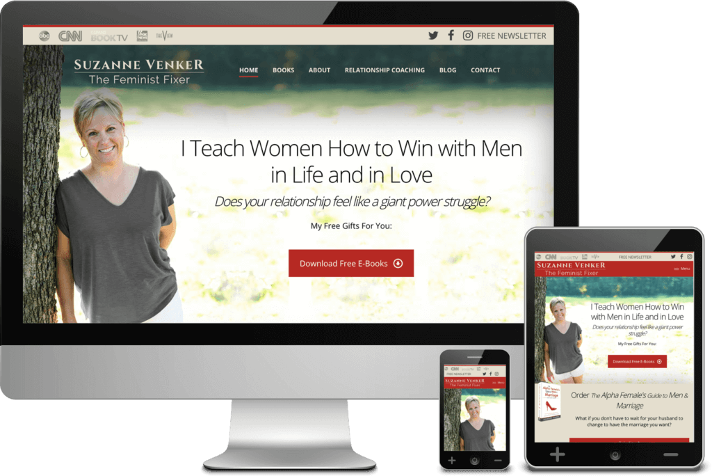 Web Design for author Suzanne Venker