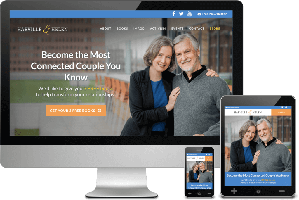 Web design for authors Harville & Helen