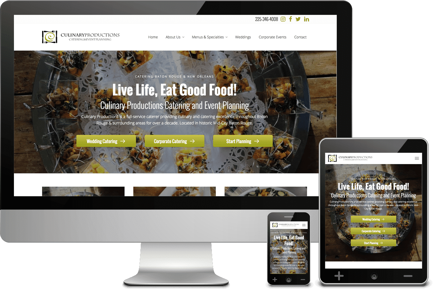 Mobile Responsive Web Design for Culinary Productions