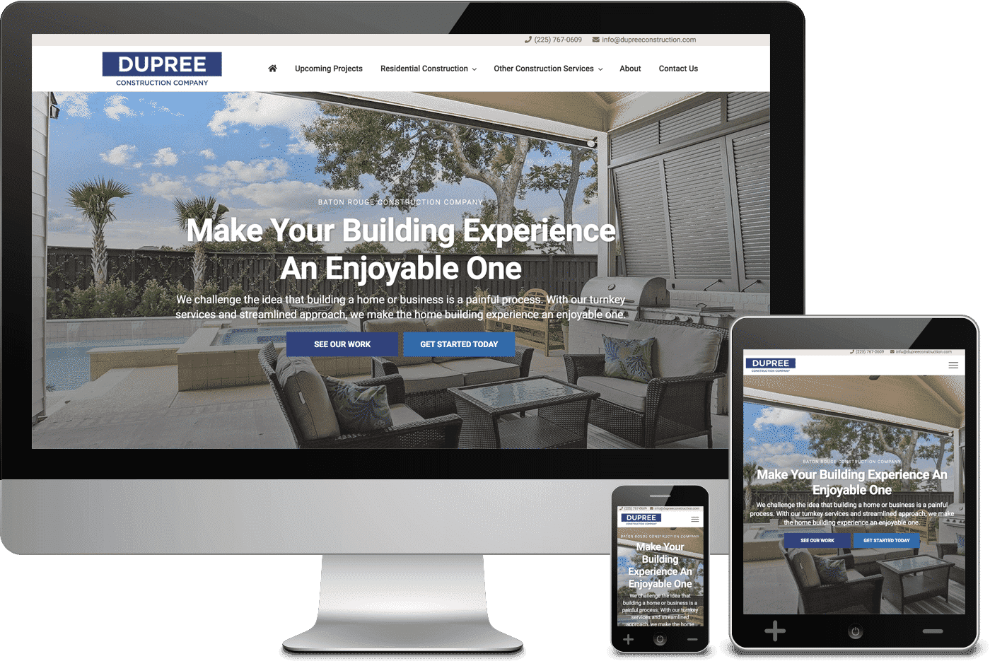 Dupree Construction Website Redesign