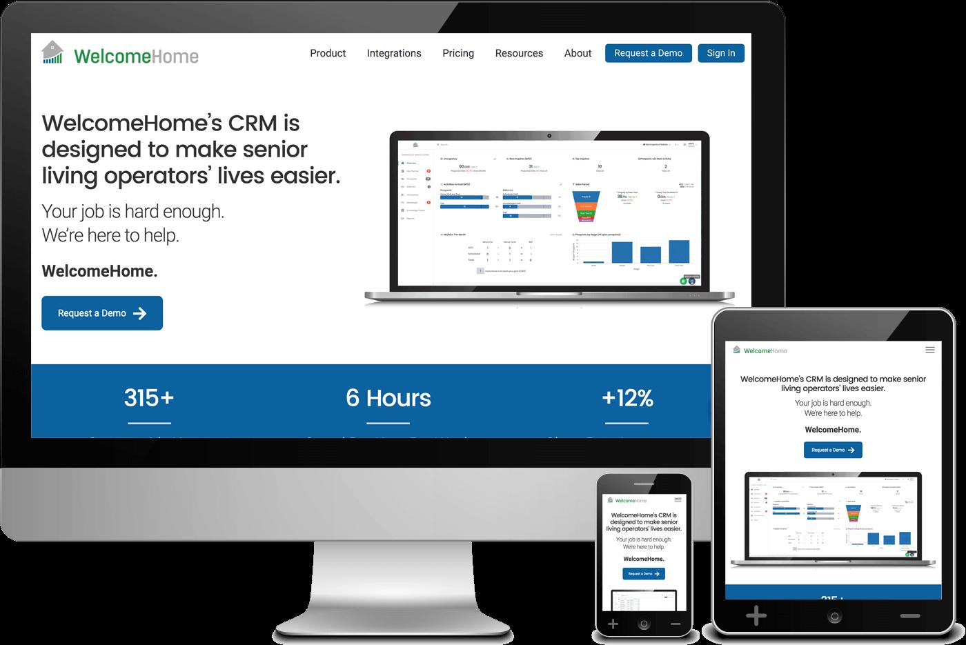 Web Design for Alpharetta Client, WelcomeHome Software