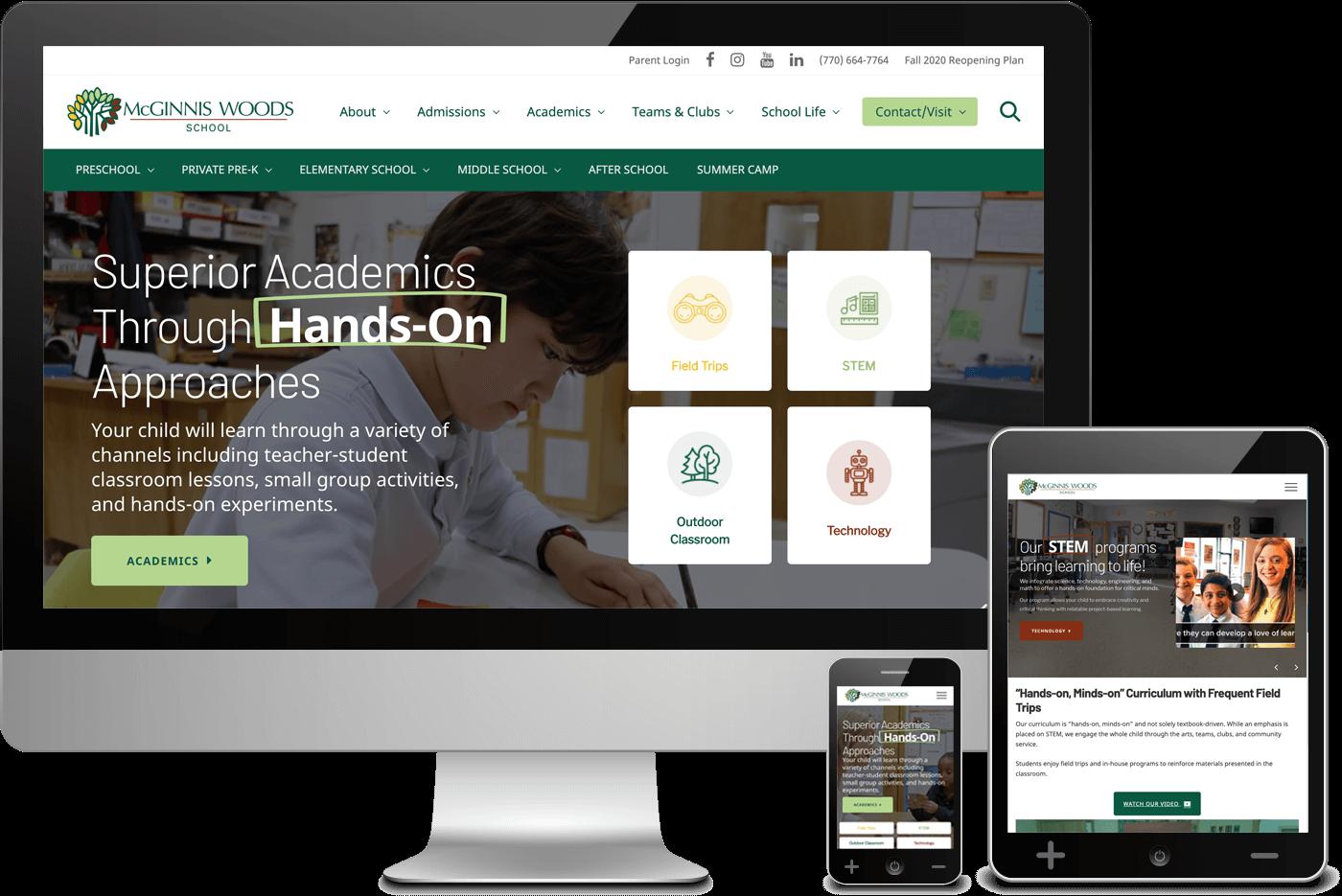 McGinnis Woods School Website Redesign