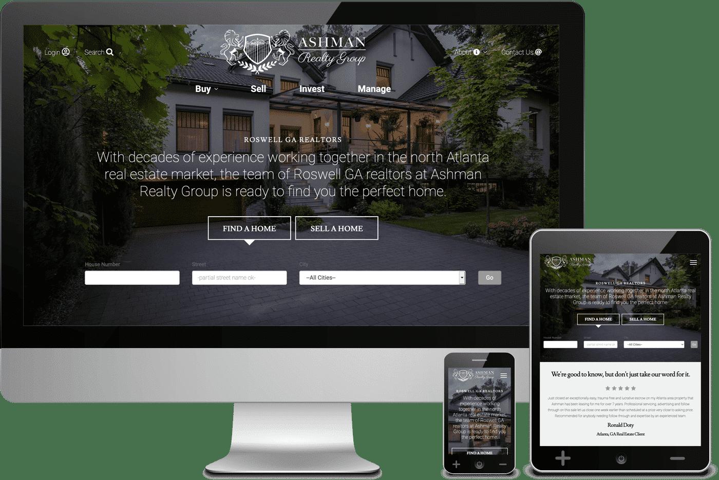 Ashman Realty Group Realtor Website Design IDX Integration