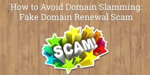 Fake Domain Renewal Scam